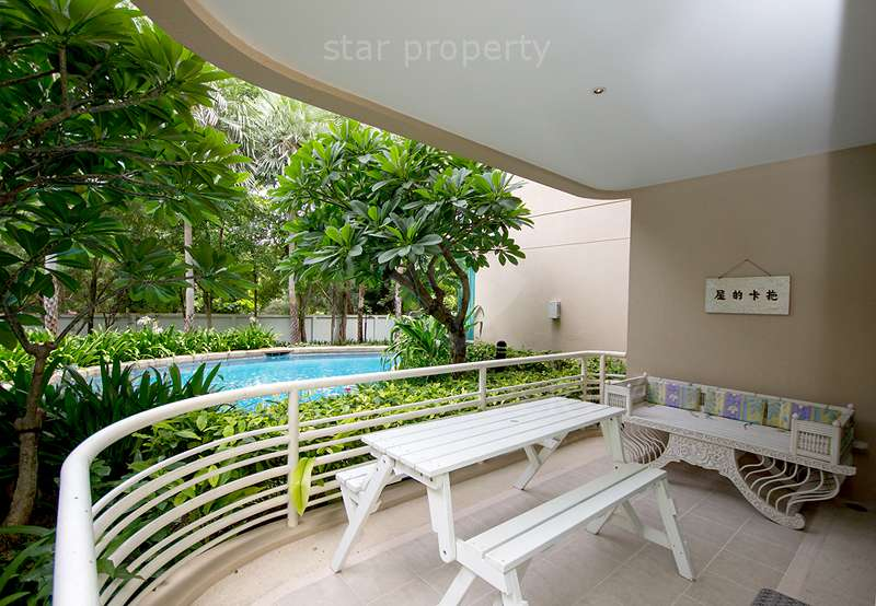 pool view large balcony condo rental