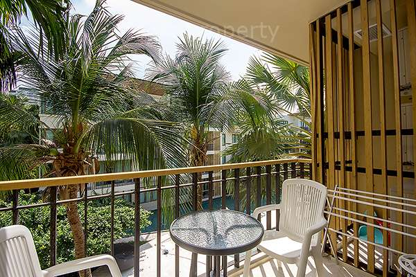 garden view balcony condo for rent Hua Hin