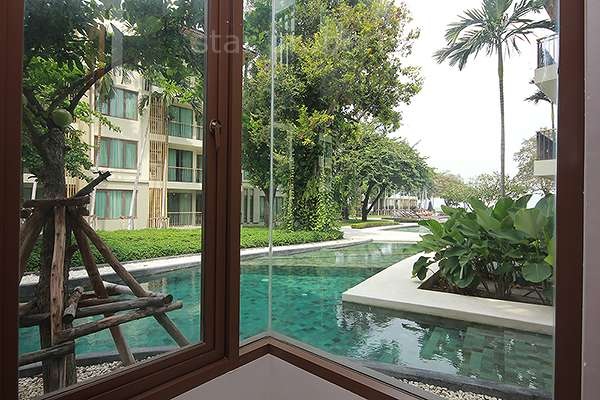 Condo with Panoramic Pool View for rent at Baan Sansuk
