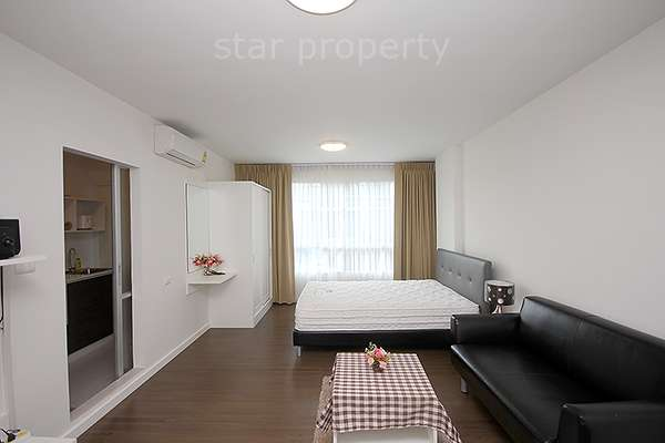 Modern Studio Condo for rent at Baan Khunkoey