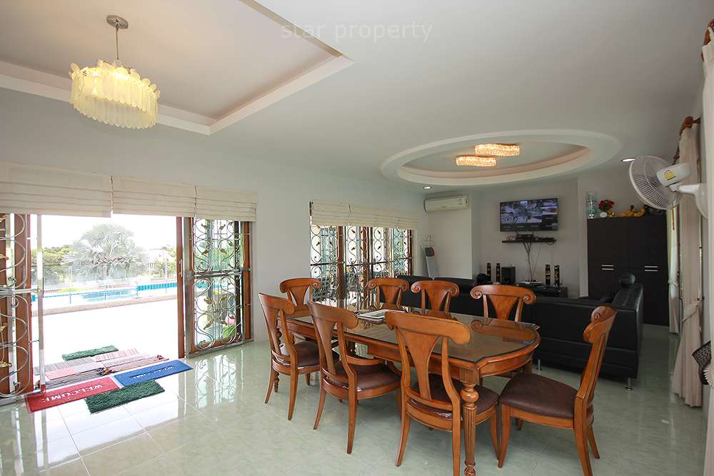 Dining room in nice pool villa of house