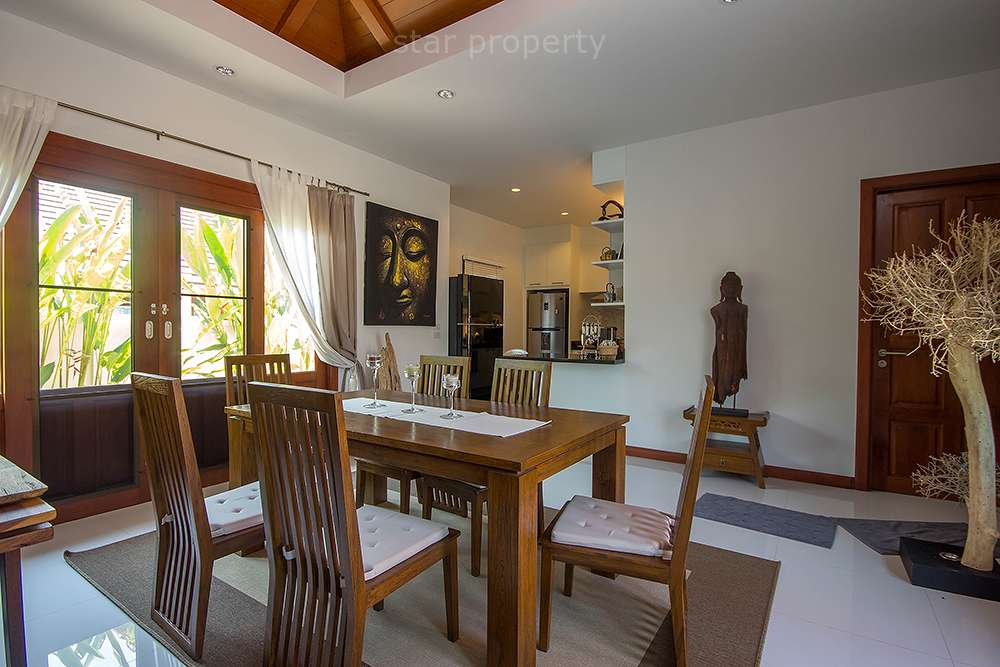 Dining in nice house