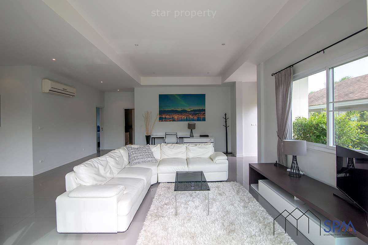 fully furnished pool villa for rent
