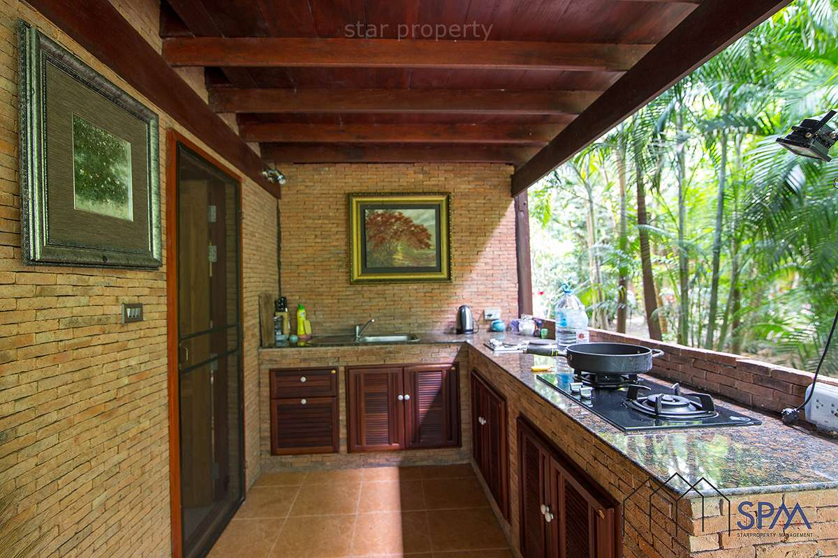 modern wood house with pool for sale Hua Hin