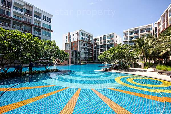 2 Bedroom Condo with Pool View at Seacraze for Sale at Hua Hin District, Prachuap Khiri Khan, Thailand