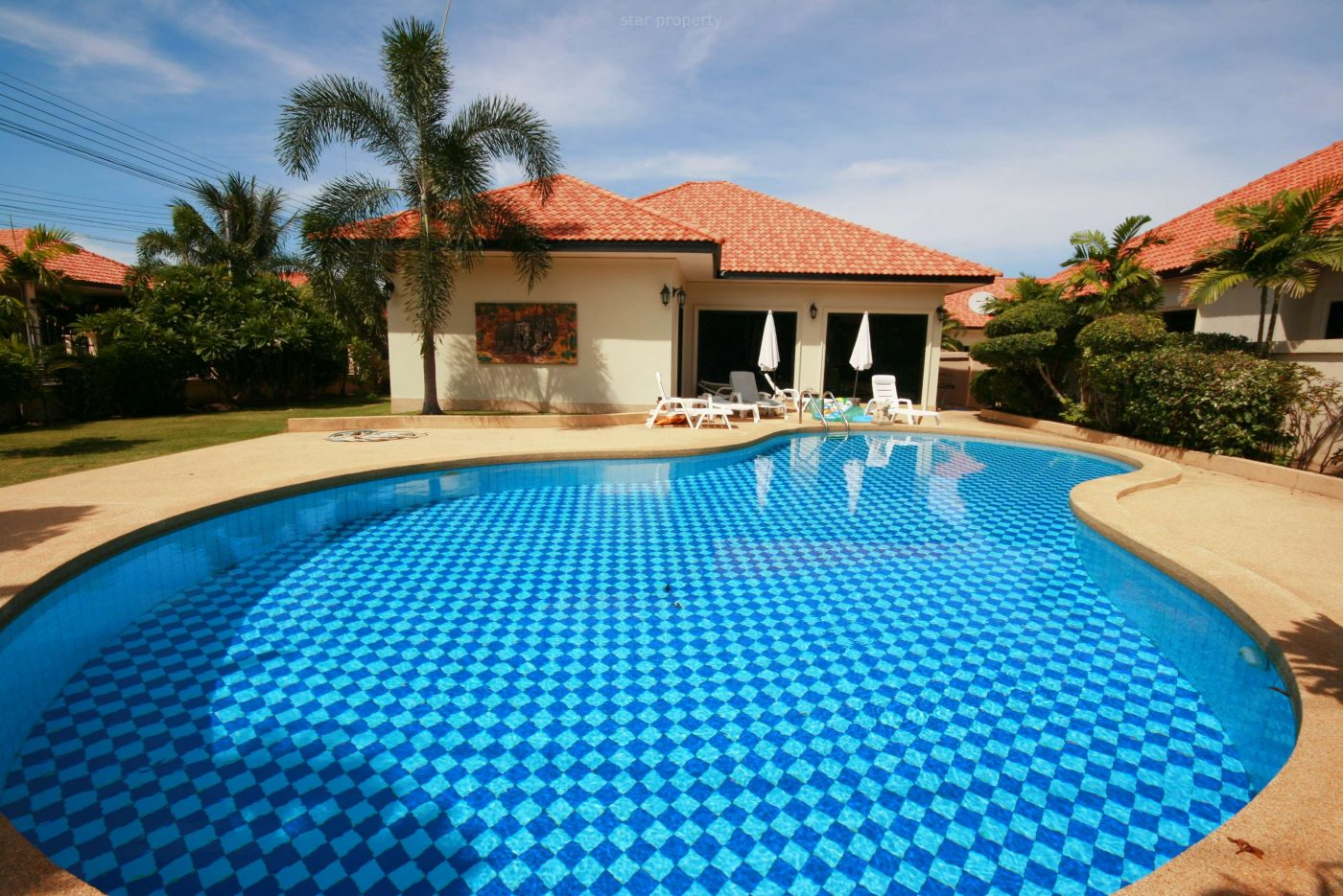Beautiful House with Pool at Orchid for Rent at Soi Mu Ban Sanook Resident