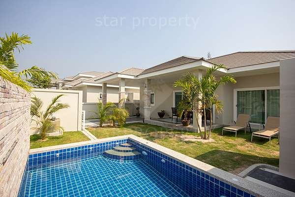 Soi 70 3 Bed Pool Villa for Rent at Baan Mio