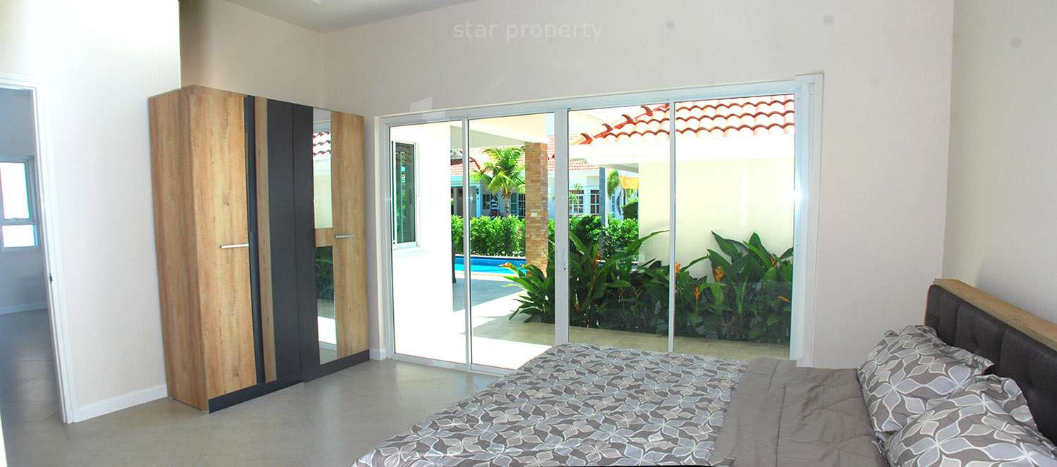 hua hin near makro villa for rent