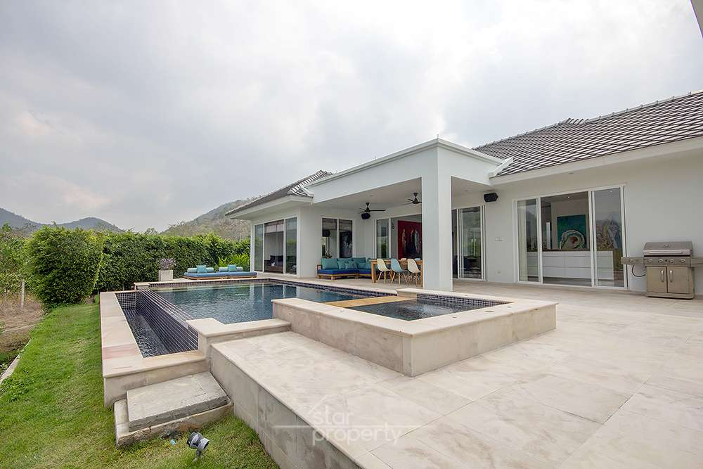 SOLD Luxury 3 bedroom Pool Villa for Sale at Hua Hin District, Prachuap Khiri Khan, Thailand