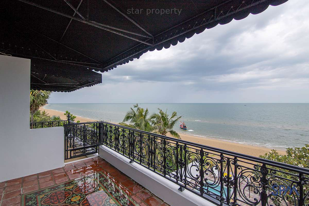 on the beach 3 story pool villa for sale