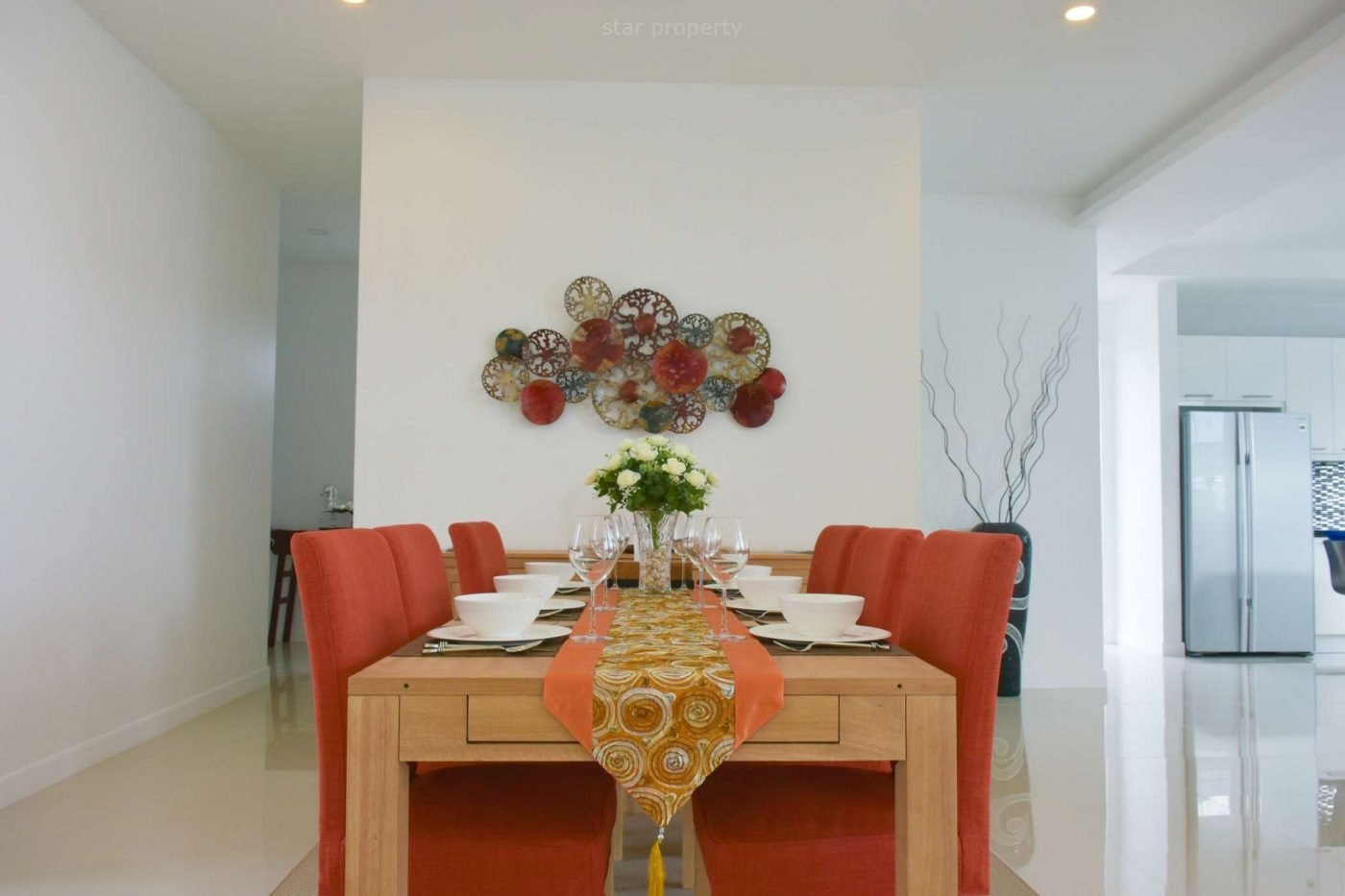 Dining table in Hua Hin Thailand villa