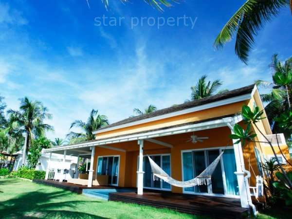 Absolute Beachfront 3 Bedroom Villa for sale at Located on the pristine beach of Huay Yang