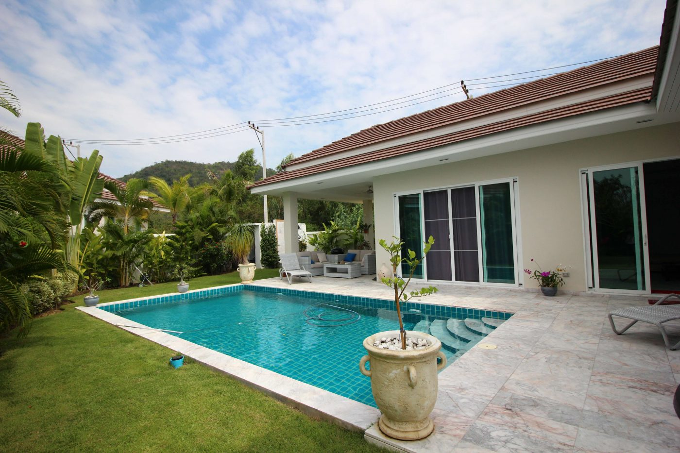 RM WATERSIDE : Luxury 3 Bedroom Pool Villa for sale at Soi 88, 7 kilometres from Hua Hin Town