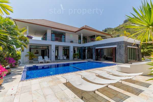 Outstanding 5 Bedroom Pool Villa for sale on Spacious Elevated lot at Phu Montra