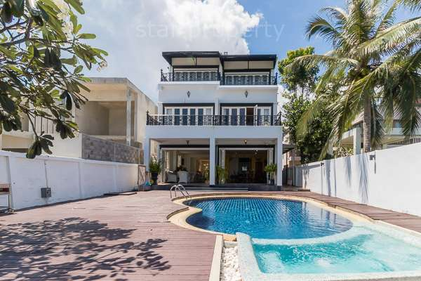 Amazing Absolute Beachfront Pool Villa for sale at South of Hua Hin and near the National Park.