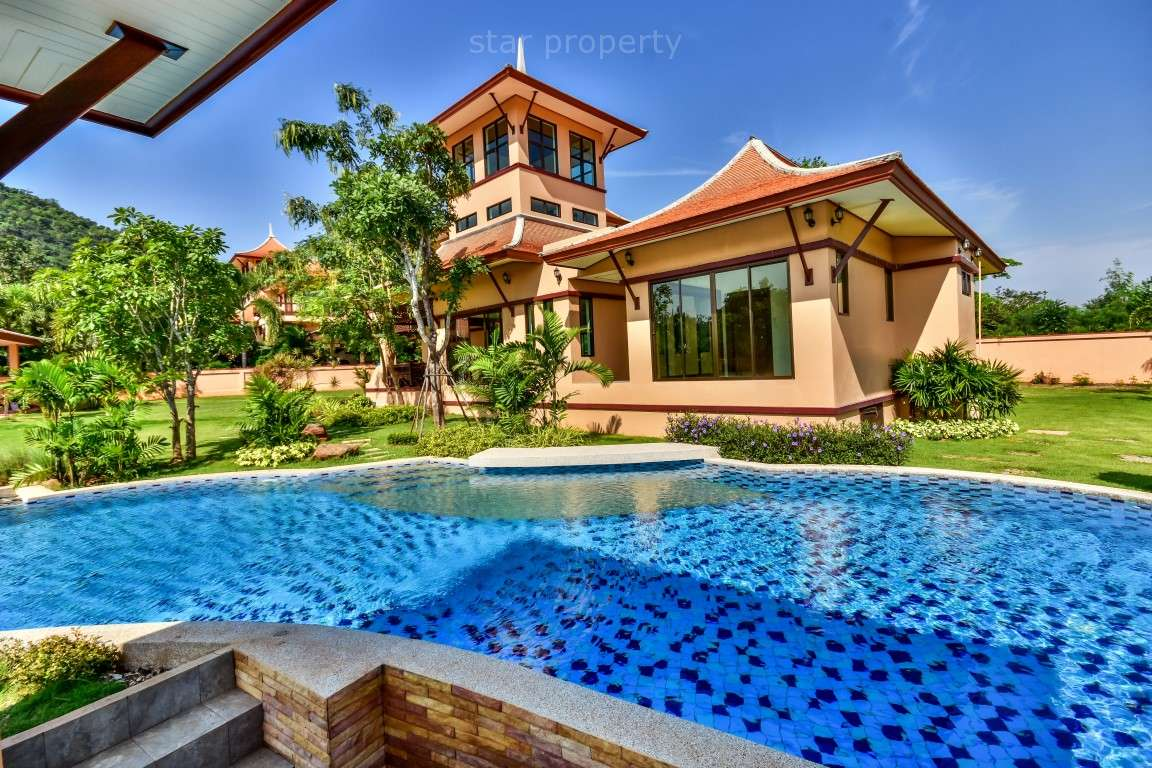 High Quality Bali Style 3 Bedroom Pool Villa with Panoramic Mountain Views for sale at Leelawadee