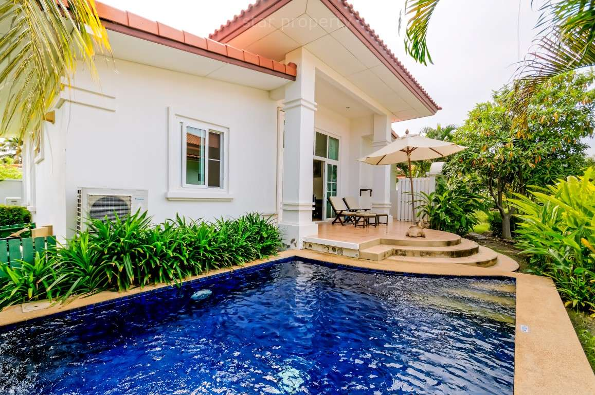2 Bedroom Bali Style Private Pool Villa for sale at Bunyan  resort HuaHin