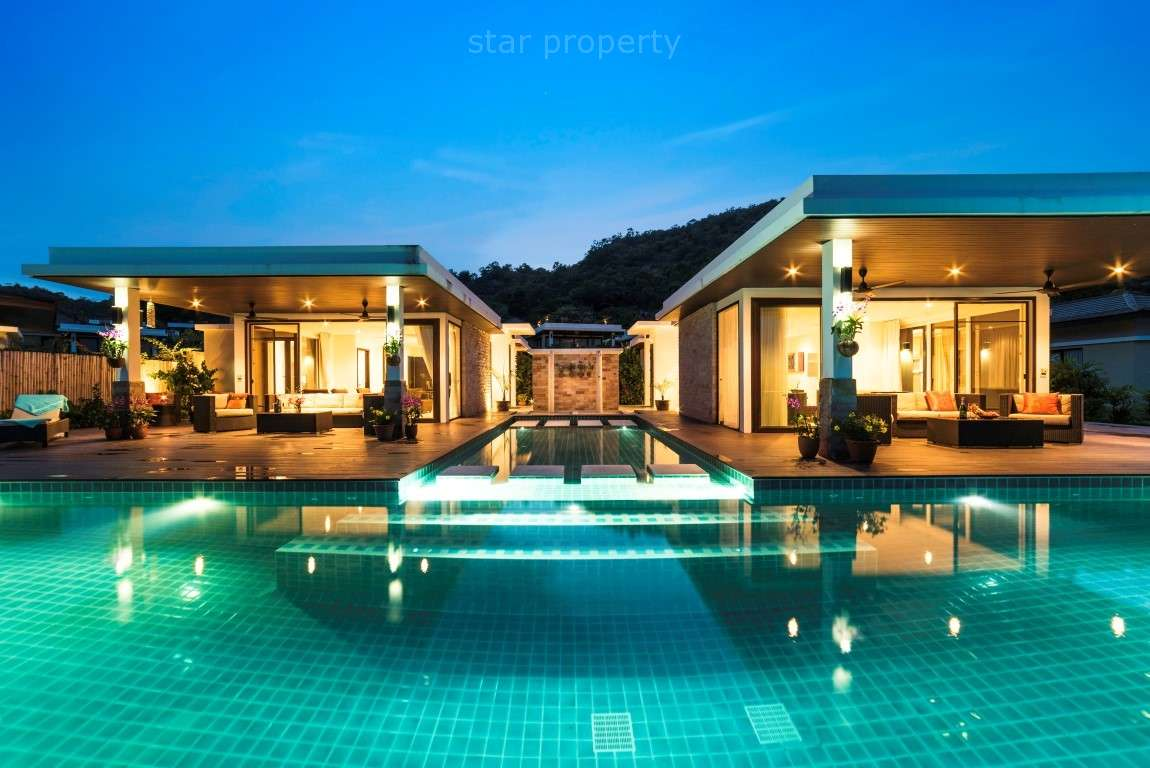 2 Fantastic Pool Villas with 5 Bedrooms and Sea Views for sale at Villa Wintergruen Hua Hin Thailand