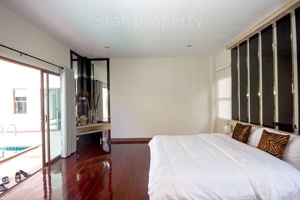 Pool view bedroom with a good price