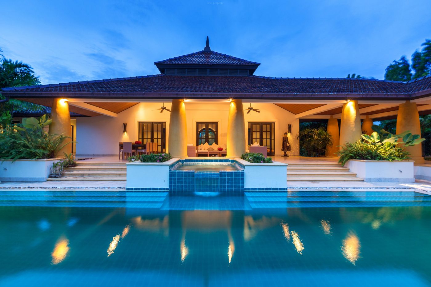 Luxury Bali Style House For Sale at Hua Hin District, Prachuap Khiri Khan, Thailand