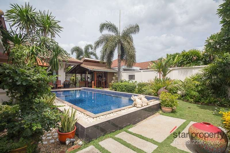fully furnished pool villa for sale