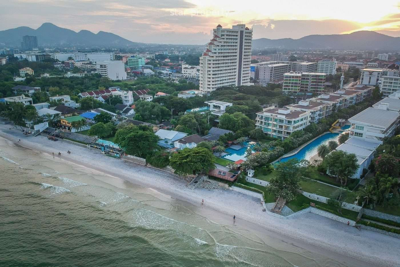Luxury Beach Front Condominium in the heart of Hua Hin. at Baan San Pluem