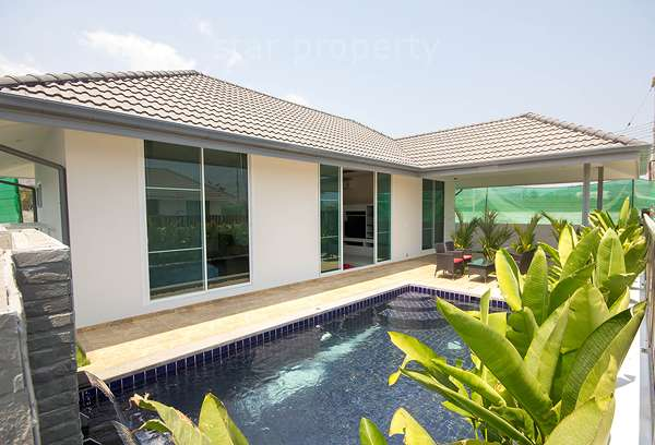 Contemporary Modern Style Pool Villa for Sale in Hua Hin Soi 102 at Mil Pool Villas