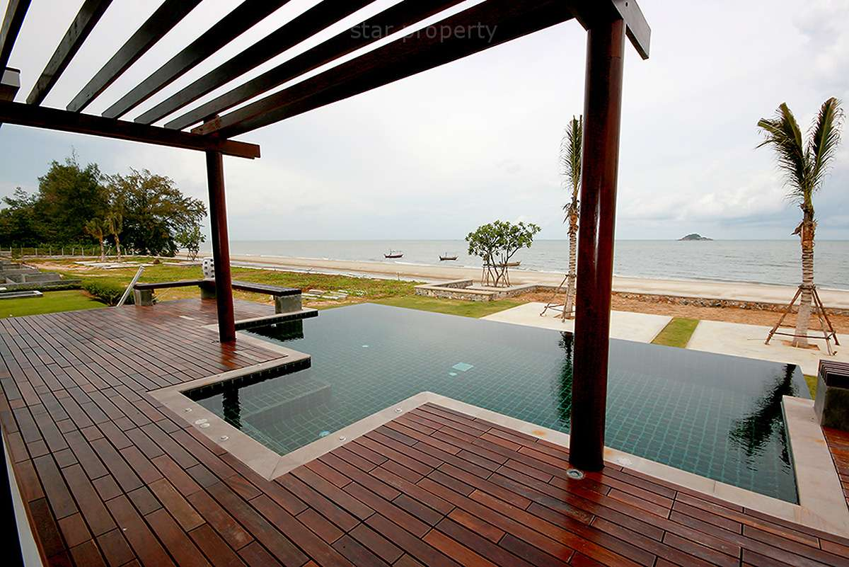 Exclusive Beach Front 4 Bedroom Pool Villa For Sale at Khao Tao