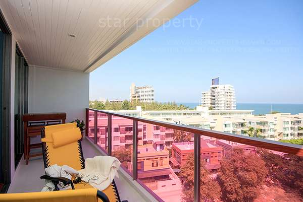 2 Bedrooms Unit at Rocco with Sea View, Hua Hin town for Rent at Rocco