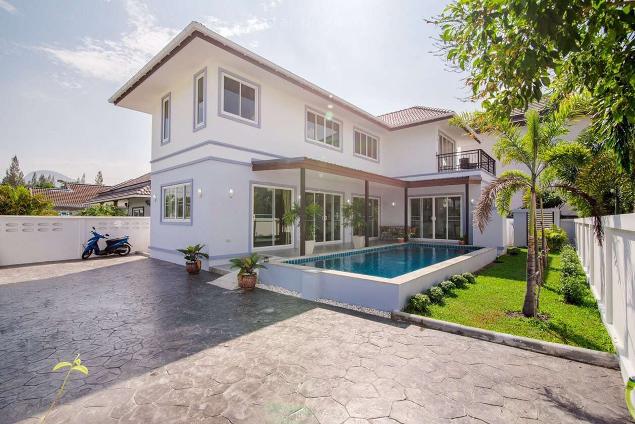 Beautiful Two Storey Pool House for Rent Hua Hin Soi 102 at Sethavidhya School Hua Hin