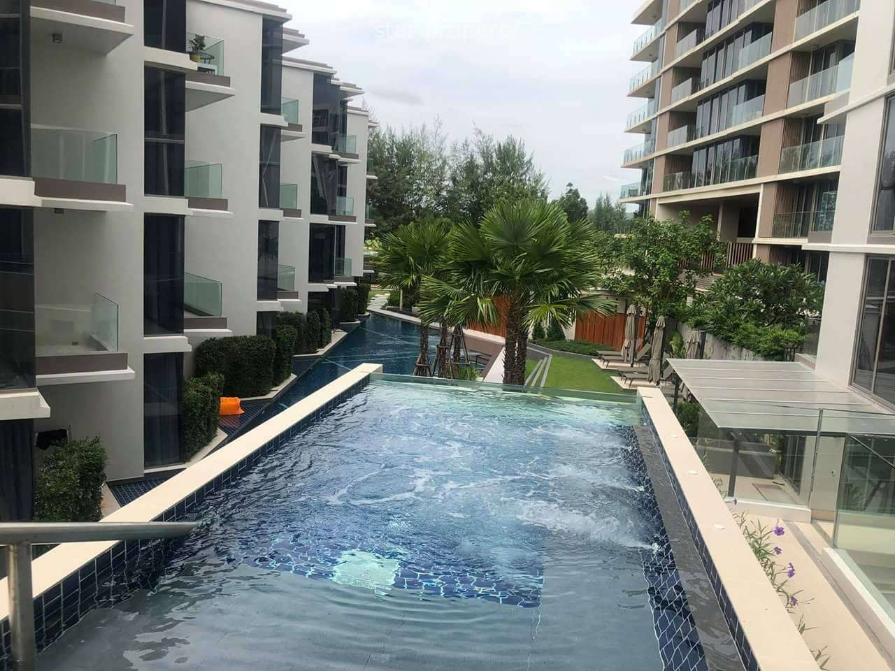Modern Pool View 1 Bed for Rent at The Pine at The Pine Hua Hin