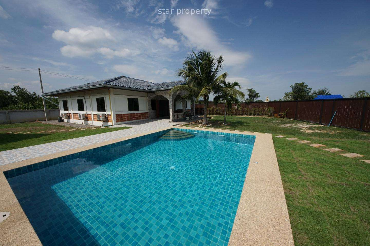 3 Bedroom Bungalow with Pool for Sale in Pranburi at Pran Buri District, Prachuap Khiri Khan, Thailand