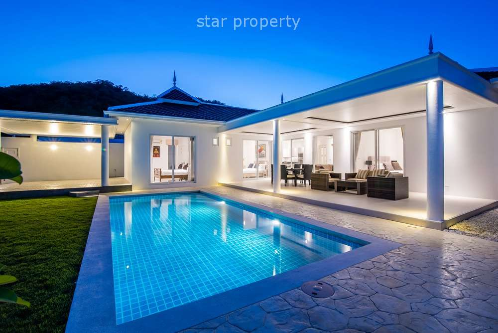 Immaculate 3 Bedroom Pool Villa at Falcon Hill in Soi 102 at Hua Hin District, Prachuap Khiri Khan, Thailand