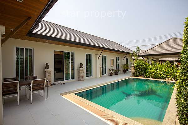Stunning 3 Bedroom Pool Villa at Nice Breeze Soi 6 for Sale at Hua Hin District, Prachuap Khiri Khan, Thailand