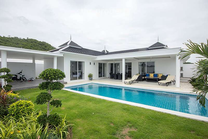 3 Bedroom Pool Villa at Falcon Hill in Soi 102 at Hua Hin District, Prachuap Khiri Khan, Thailand