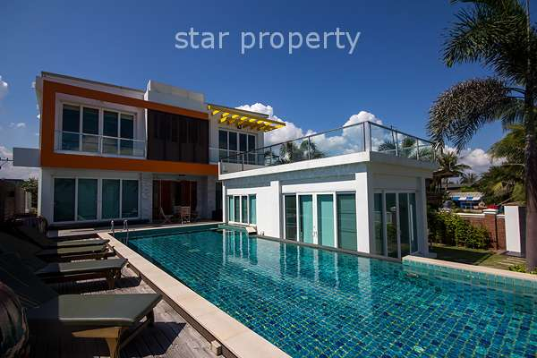 Exclusive Beach Front 4 Bedroom Pool Villa for Sale in Cha Am at Cha Am District