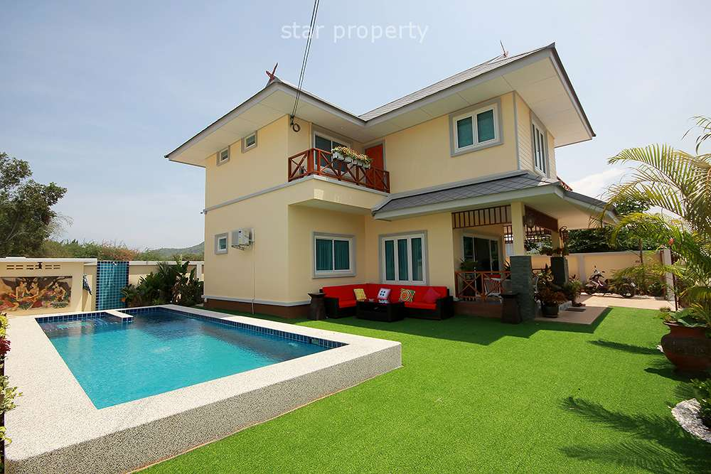 Brand New 2 Storey House with Pool for Sale at Hua Hin District, Prachuap Khiri Khan, Thailand