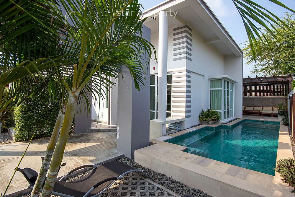 Modern 2 Bedroom Pool Bungalow for Sale in Pranburi at Pran Buri District, Prachuap Khiri Khan, Thailand