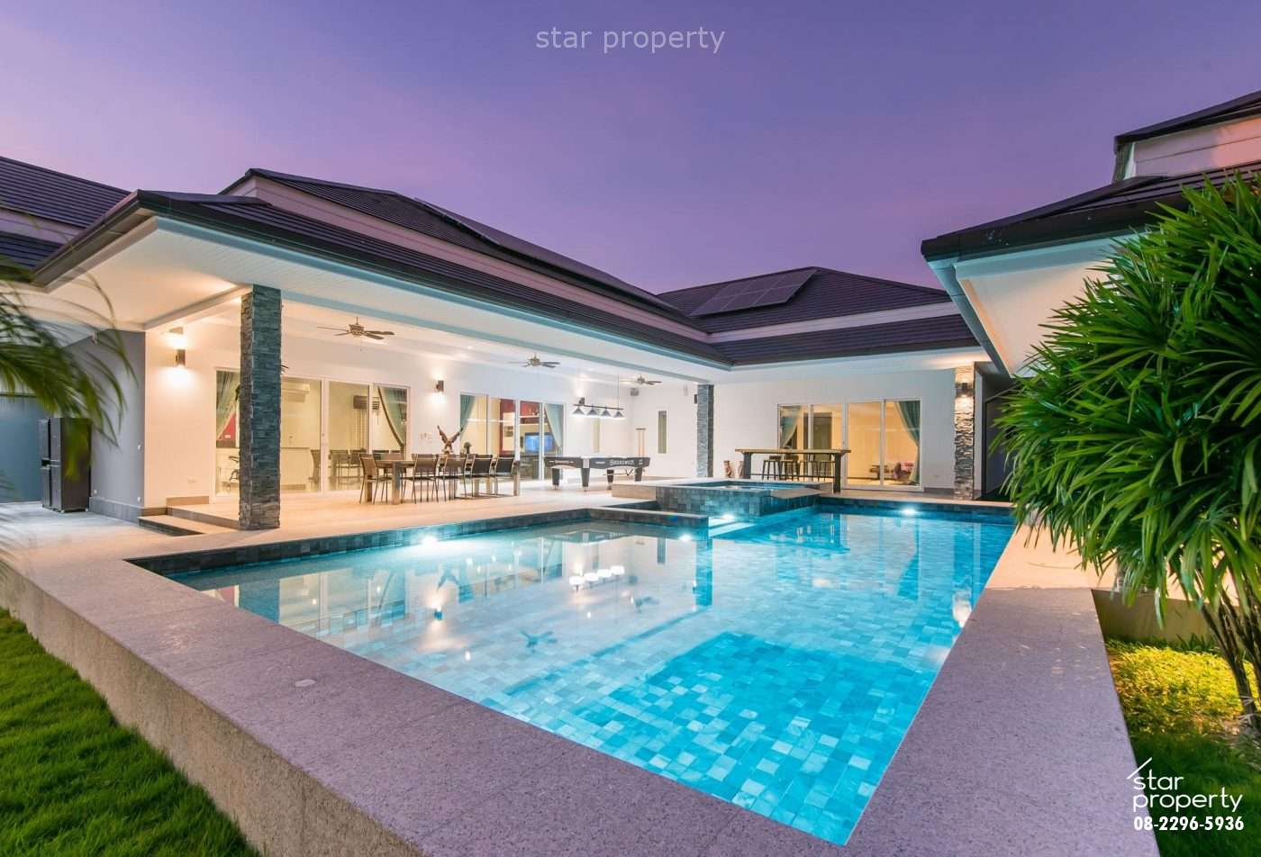 Fully Finished Pool Villa for Sale at The Clouds Hua Hin plot 27