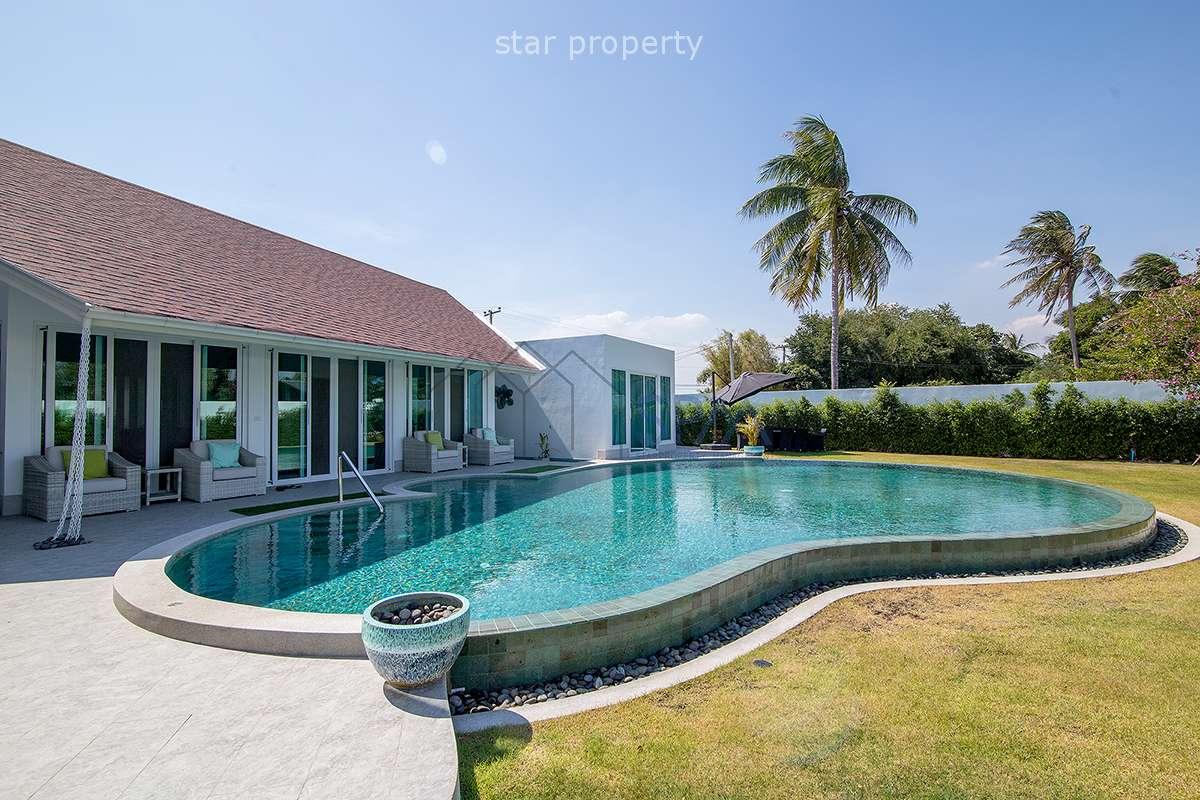 Brand new Eco-friendly Modern Balinese Villa on 1 Rai (Chanote) for Sale at Hua Hin District, Prachuap Khiri Khan, Thailand