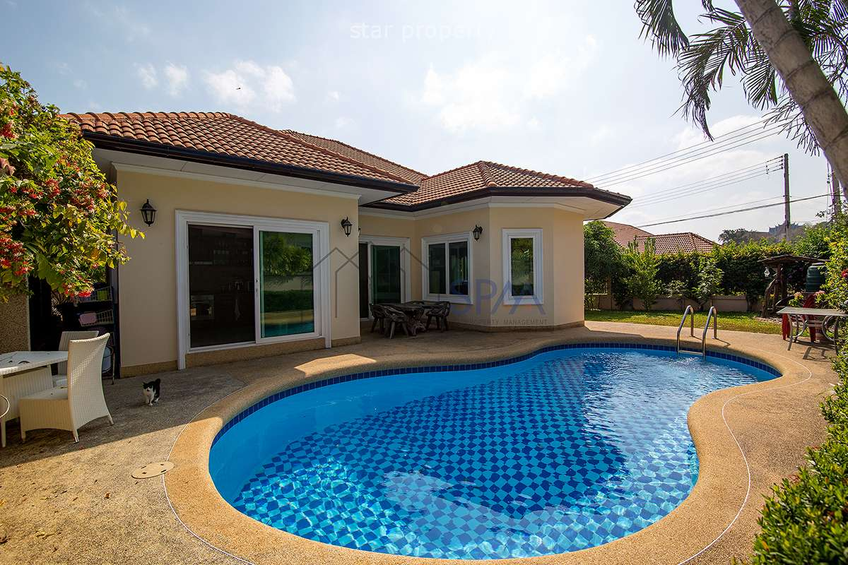 Big 266 sqm poolvilla on 481.2 sqm land in small private 12 house community in Huana.