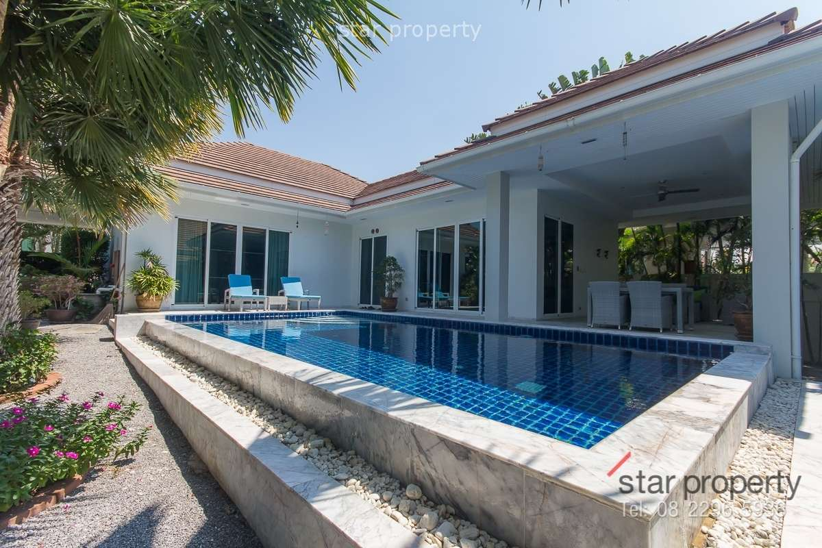 Beautifully Modern Pool Villa for Sale at Red Mountain Hua Hin Soi 88 at Red Mountain