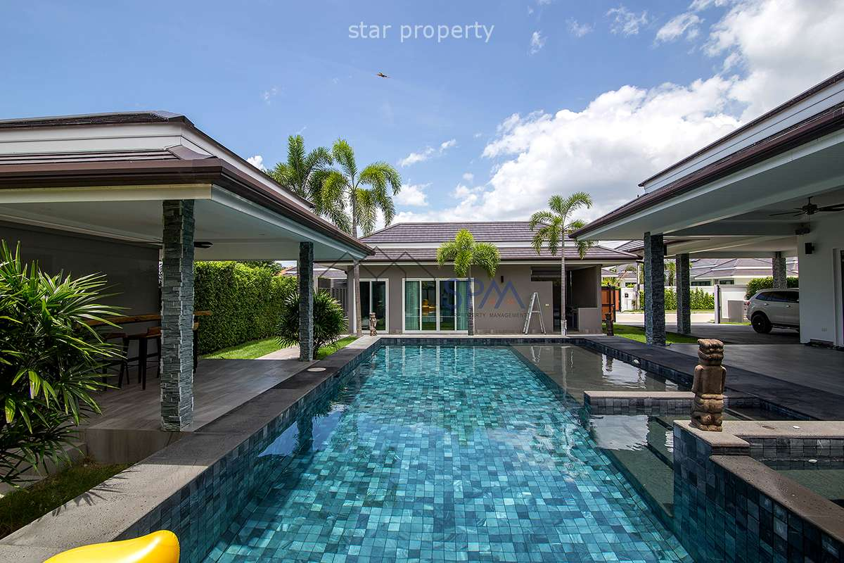 Fully Finished Pool Villa for Sale at The Cloud Near Plam Hills Golf Course
