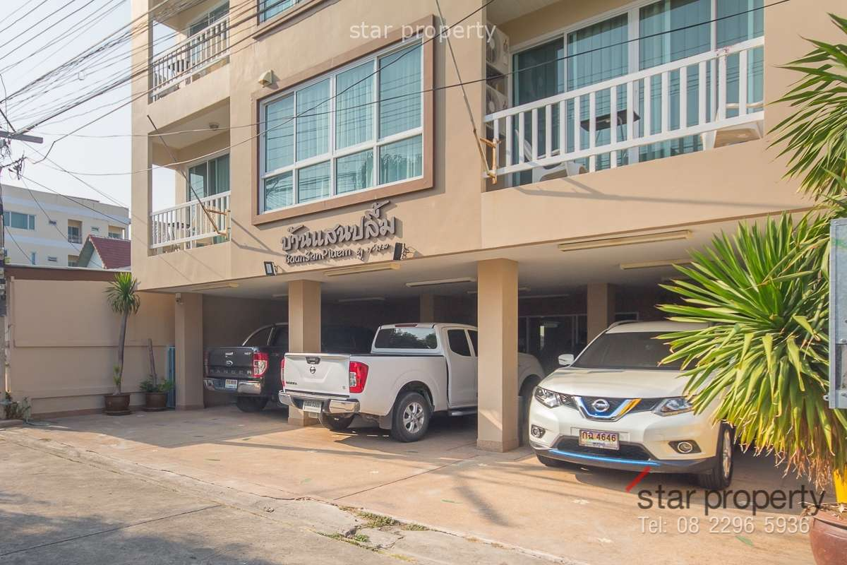 Apartment for sale near beach in Hua-Hin Soi 45, 4 floors 6 bedrooms 6 bathrooms fully finished.