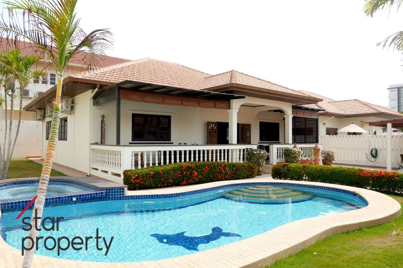 Beautiful Pool Villa Fully Finished for Rent at Soi 94