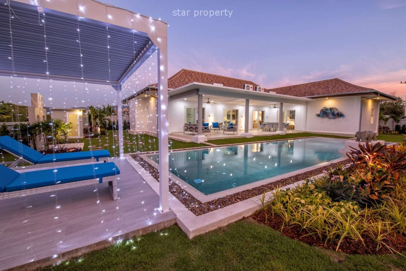 Large Pool Villa with 3 Bedrooms for Sale at Mali Signature