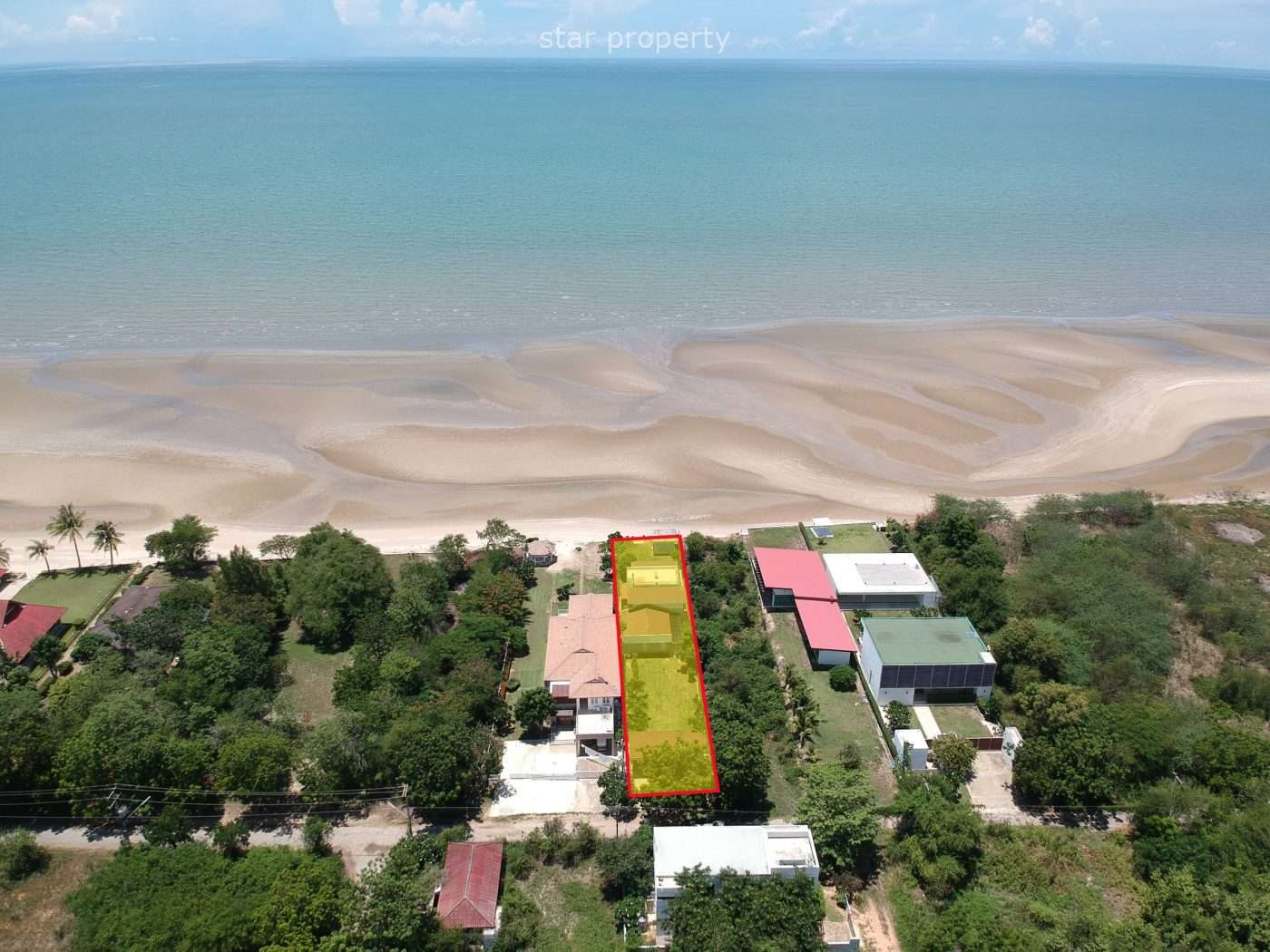 Beautiful Beachfront House for sale at Cha Am