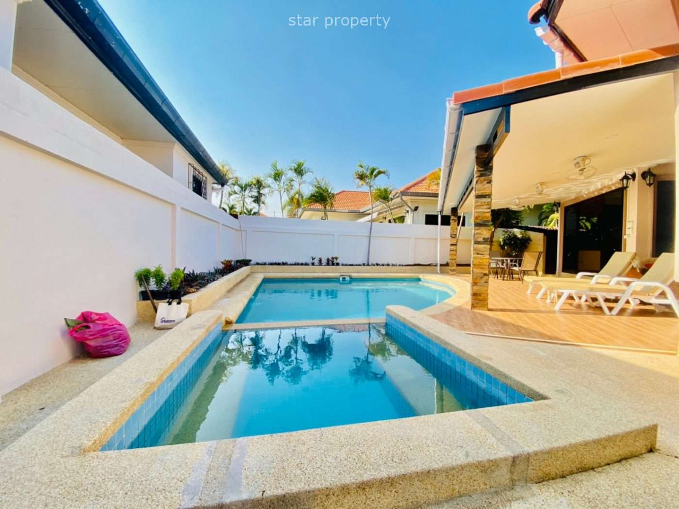 Beautiful 3 beds pool villa for rent at Orchid Villa soi Hua Hin 114