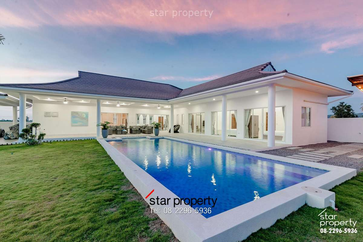Brand New 5 Bed pool Villa on large land plot. at Hua-Hin, Prachuabkirikhan